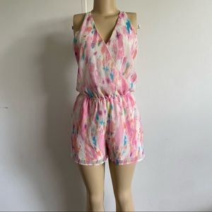 Rory Beca Watercolor Romper Size Small